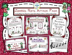 $2 Tuesday January 27th I am excited about this G-rated Zombie pack of fun note reading activities.