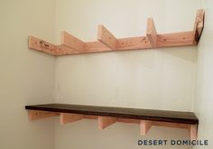 How to make wood shelf brackets | ehow, Wooden shelf brackets dress up the appearance of a shelving system. Description from streetsmartbuys.info. I searched for this on bing.com/images
