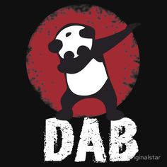 DAB PANDA keep calm and dab dabber dance football touch down