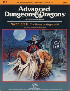 Ravenloft II: The House on Gryphon Hill : Module (Advanced Dungeons and Dragons) Dungeons And Dragons Books, Advanced Dungeons And Dragons, Pen And Paper Games, Classic Rpg, Forgotten Realms, Cartoon Jokes, Illustrations, Game Design, Cover Art
