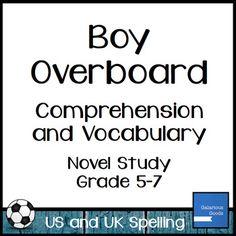 boy overboard teaching activities teaching boys teaching boy overboard comprehension and vocabulary