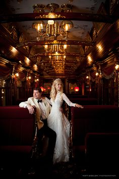 Couple enjoys a moment alone in his father's amazing restored presidential rail car!