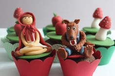 Little red riding hood cup cakes