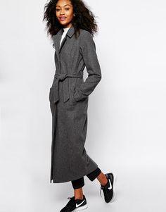 Vero Moda | Vero Moda Longline Belted Coat at ASOS