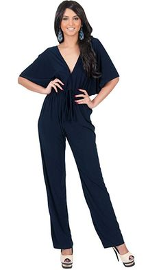 31fb33f78be KOH KOH Plus Size Womens Short Kimono Sleeve OnePiece Jumpsuit Cocktail Romper  Playsuit Sexy Pants Suit Trousers Slimming Elegant Beach Party Color Navy  ...