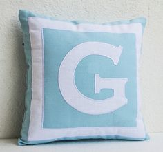Custom Monogram Personalized Pillow Cover Gifts For Wedding Kids Dorm Decor