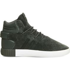 f269e9b85 Adidas Tubular Invader suede and leather mid-top trainers (16 KWD) ❤ liked  · Grey ...