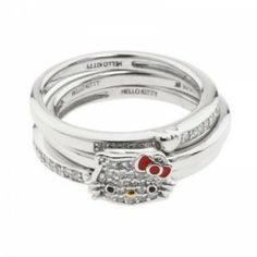 i love this wedding setbeing a hello kitty addict this would be a perfect engagement ring p - Hello Kitty Wedding Ring