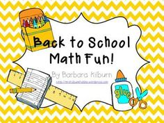 6 math centers (common core aligned) perfect for first or second grade students