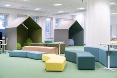 Kalliola School, Hollola Playroom, Innovation, Loft, Bed, Schools, Interior, Inspiration, Furniture, Home Decor