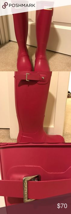 NWOT Hunter boots New and never worn pink tall Hunter boots Hunter Boots Shoes Winter & Rain Boots