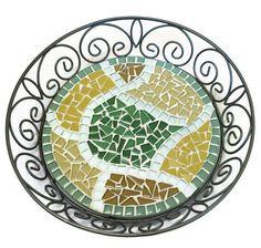 Mosaic Basket Trivet Candle Holder by GreenStreetMosaics on Etsy, $24.00