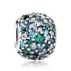 Charm Ocean Mosaic 925 Sterling Silver Charms Fits Pandora, European Bracelets Compatible *** Learn more by visiting the image link. #Charms