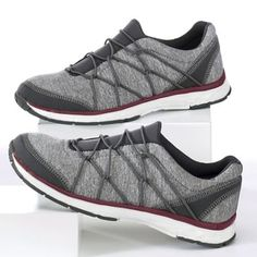 "Women's Abyss Shoe by Dr. Scholl's from Monroe and Main. A shoe that has ""relaxed weekend"" written all over it! Two-tone fabric upper with loop laces and a synthetic outsole Weekend Fun, Tone It Up, Athletics, New Look, Fabric, Shoes, Style, Fashion, Tejido"