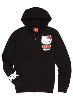 Hello Kitty Attitude Black Hoodie