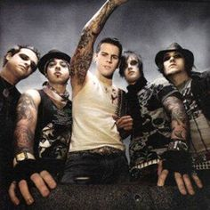 """Avenged Sevenfold: A Band whose members all use stage names - """"M. Shadows"""", """"Synyster Gates"""", Zacky """"Vengeance"""", Johnny """"Christ"""", and Jimmy """"The Rev"""" Sullivan."""