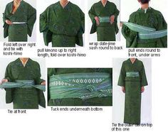 Folding and Wearing Japanese Kimonos, Obis and Geta - Wafuku Kimono Information 5
