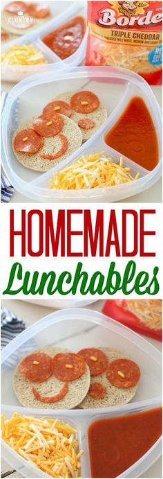 Homemade Lunchables recipe ideas from The Country Cook. #backtoschool #kids #lunch #ideas #easy