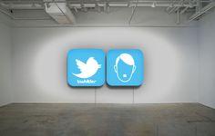 """TwHitler"" Installation Diptych lightbox, plexiglass 70x70x15 cm. info:ultraiabo@gmail.com"