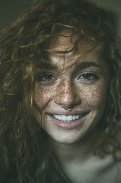 Portrait Freckles are Beautiful