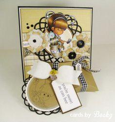 """""""Sweet Honey Bee""""  http://cardsbybecky.blogspot.com/2014/02/a-random-fanchallenge-card.html"""