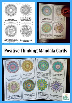 Using positive thinking and positive self talk are great ways to help kids of all ages overcome test anxiety.  These mandala mantra cards for test anxiety allows children to self soothe so that they can relax and concentrate on their exam.