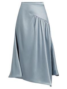 Sies Marjan Gathered silk-charmeuse skirt