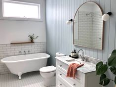 Our gorgeous Hayley vanity in white styled to perfection in this bathroom renovation! Bathroom Styling, Bathroom Interior Design, Dream Home Design, House Design, Aesthetic Rooms, Bathroom Renos, Bathrooms, My New Room, House Rooms
