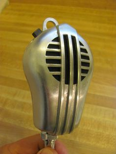 Vintage 1940's Turner Art Deco Mid Century Old Chrome Radio Microphone | eBay