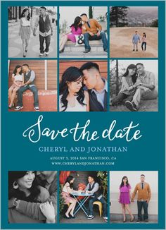 Create personalized save the date cards with a collection of photos from Shutterfly.com