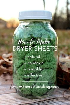 4 ingredients + 5 steps for homemade nontoxic dryer sheets! is part of Diy laundry - Conventional dryer sheets have a nasty list of negative health effects, but these easy and affordable nontoxic dryer sheets are the perfect alternative! Homemade Cleaning Products, Cleaning Recipes, House Cleaning Tips, Natural Cleaning Products, Cleaning Hacks, Diy Hacks, Cleaning A Dryer, Natural Products, Cleaning Cloths