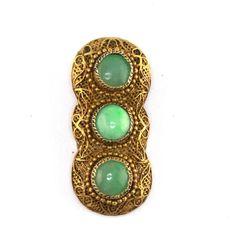 Art Deco Chinese Jadeite Fur Clip