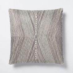 Beaded Kaleidoscope Pillow Cover - Platinum #westelm