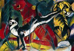 stilllifequickheart:  Franz Marc Cats 1913