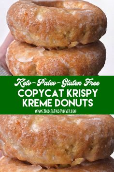 keto dessert Having a Krispy Kreme donut and living a keto lifestyle are no longer mutually exclusive, so bake these very yeasty and addictive donuts with a crunchy, sugary exterior youll Low Carb Cake, Keto Cake, Low Carb Keto, Keto Cheesecake, Keto Donuts, Keto Cookies, Cookies Et Biscuits, Donuts Donuts, Keto Pancakes