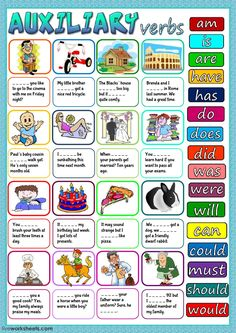 Auxiliary verbs interactive and downloadable worksheet. You can do the exercises online or download the worksheet as pdf.