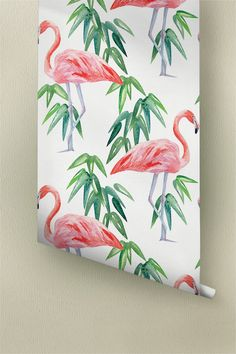 Exotic leaves wallpapers from Wallflora are designed to give an entirely new look to the walls of your room. These are easily removable wallpapers which can be easily attached to the walls without applying any extra glue. A beautiful pattern of leaves and pink flamingo birds characterizes this wallpaper. Just peel off the back portion of the wallpapers, apply them to the walls and see your home transform! ➢ SIZE You have the option of two sizes for your personal tropical room décor…