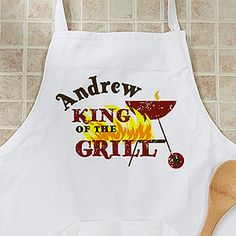 Give that special man in your life a gift they can cherish forever with the Personalized BBQ Grill Aprons - King Of The Grill. Find the best personalized mens' gifts at PersonalizationMall.com
