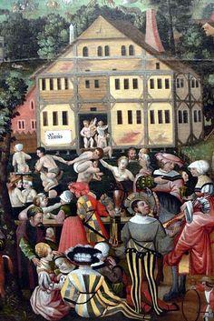 German Historical Museum ( Berlin ). Labors of the month, painting ( 16th century ) by Jörg Breu the Elder - May.  - Deutsches Historisches Museum ( Berlin ). Augsburger Monatsbilder ( 16. Jhdt. ) von Jörg Breu d.Ä. - Monat Mai.