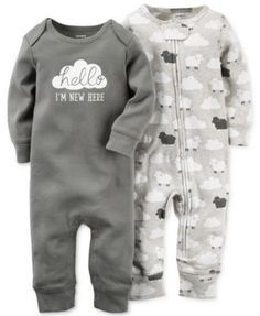 Carter's Baby Boys' or Baby Girls' 2-Pack Little Lamb Coveralls