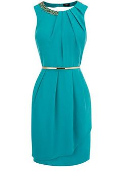 Oasis Shop | Deep Green Paloma Embellished Dress | Womens Fashion Clothing | Oasis Stores UK