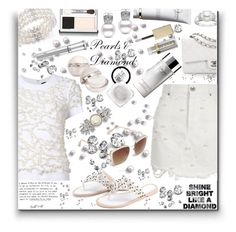 """""""Pearls & Diamonds - Contest!"""" by sarahguo ❤ liked on Polyvore featuring River Island, Bloomingdale's, Stila, Clinique, Vera Wang, Clé de Peau Beauté, Brilliance New York, Morgan Lane, MAKE UP FOR EVER and Chanel"""