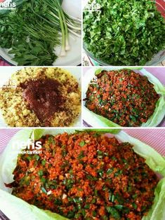 Antakya Style Magnificent Ingredients Find 3 cups of medium thickness … Turkish Recipes, Ethnic Recipes, Bulgur Salad, Chickpea Salad Recipes, Salad Wraps, Wrap Recipes, Best Appetizers, Grilling Recipes, Food And Drink