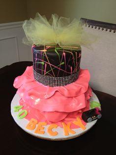 80's cake by Madonna Wozniak