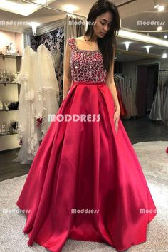 Ulass Cap Sleeves Prom Dress, Beaded Prom Dress, Backless Prom Dress, Red Prom Dress, Long Prom Dress 2018 · Ulass · Online Store Powered by Storenvy Indian Gowns Dresses, Prom Dresses With Sleeves, Backless Prom Dresses, A Line Prom Dresses, Evening Dresses, Long Dresses, Party Dresses, Wedding Dresses, Long Skirt Outfits