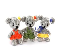 $33.56 crochet MOUSE soft doll, mini mice toy, amigurumi mouse figurine, #mouse cloth doll, mouse #birthdayparty supply, #bestseller mouse from crochAndi