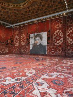 """Palazzo Grassi, vista della mostra """"Rudolf Stingel"""", Venezia, 2013 #art #venice #biennale 2013"""