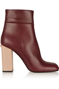 Marni Leather ankle boots | NET-A-PORTER