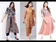 Latest Kurti Design | Latest stylish kurti with shop link - YouTube Anarkali, Lehenga, Link Youtube, Latest Kurti, Ethnic Dress, Designer Gowns, Trendy Tops, Blouse Designs, Beautiful Dresses