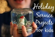 Holiday service projects for kids - easy ways to teach why it's important to give and not just receive gifts during this time.